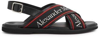 Alexander McQueen Cross-strap Leather Sandals