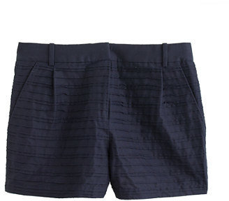 J.Crew Collection cotton-silk faille pintuck short