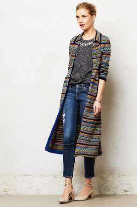 Anthropologie Fairisle Sweaterknit Coat
