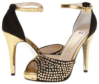 Red Carpet E! Live from the Frankie (Black/Gold Satin) - Footwear