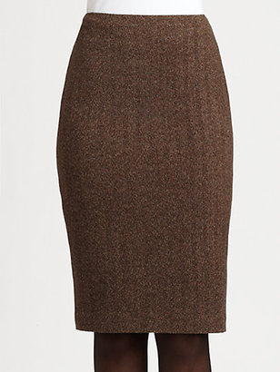 Ralph Lauren Black Label Tweed Pencil Skirt