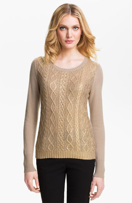 Christopher Fischer 'Isabel' Foil Front Cashmere Sweater