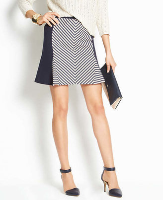 Ann Taylor Club Stripe Skirt