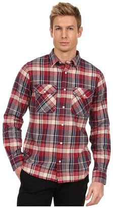 Jack Spade Barton Flannel Plaid Work Shirt (Red) - Apparel