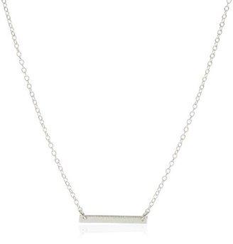 """Gorjana Knox"""" Sterling Silver Bar Necklace"""