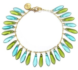 Wendy Mink Green & Blue Dagger Chain Bracelet