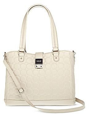 Lulu by Guinness® Dotted Line Large Tote
