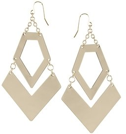 Asos Articulated Arrow Earrings - Gold