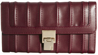 French Connection Between The Lines Wine Foldover Wallet