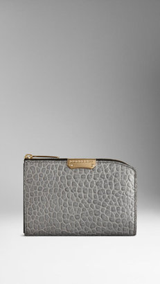 Burberry Small Signature Grain Leather Continental Wallet