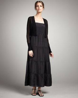 Eileen Fisher Tiered Silk Dress, Petite