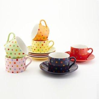 Yedi Houseware Multi Dot Cup & Saucer Set 7oz