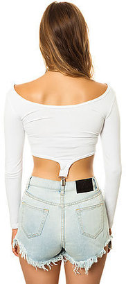 UNIF The Slater Crop in White