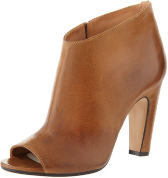 Maison Martin Margiela Mid-Heel Peep-Toe Ankle Boot