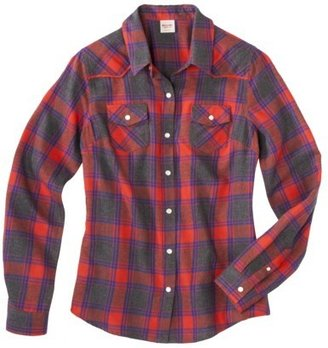 Mossimo Juniors Long Sleeve Plaid Flannel Shirt - Assorted Colors
