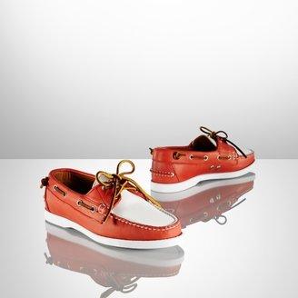 Ralph Lauren Calfskin Thea Boat Shoe