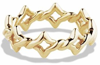 David Yurman Venetian Quatrefoil Stacking Ring in Gold $875 thestylecure.com