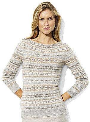 Lauren Ralph Lauren Lauren by Ralph Lauren Fair Isle Boatneck Sweater
