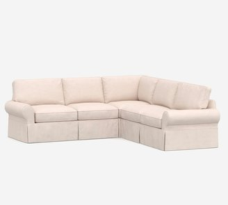Pottery Barn PB Basic Slipcovered 2 Piece L-Sectional