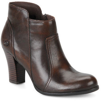 Børn Claire Leather High-Heel Ankle Boots