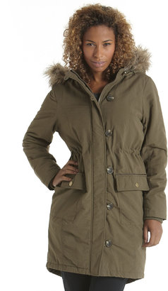 F&F Faux fur trim parka