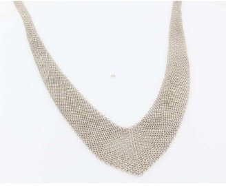 Tiffany & Co. excellent (EX Estate Vintage Sterling Silver Elsa Peretti Chain Link Bib Necklace