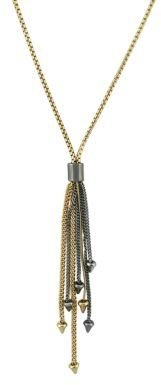 BCBGeneration Tri-Tone Tassel 'Y' Necklace