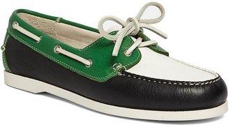 Brooks Brothers Pebbled Calfskin Color-Blocked Boat Shoe