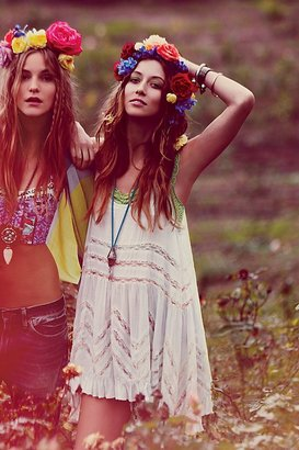 Voile And Lace Trapeze Slip by Intimately at Free People