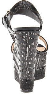 Roberto Cavalli Perforated Zebra Wedge