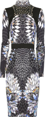 Matthew Williamson Geometric-print silk jersey dress