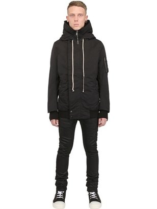 Rick Owens Cotton Murray Hooded Bomber Jacket