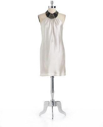 ABS by Allen Schwartz Embellished Halter Dress