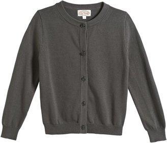 City Threads Crew Cardigan Sweater - Bright Pink-12 Months