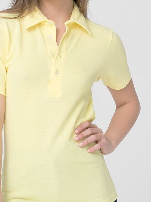 American Apparel Unisex Cotton-Poly Pique Short Sleeve Collared Shirt