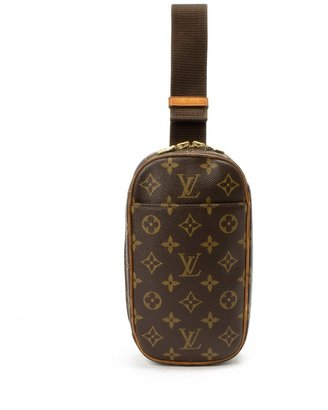 Louis Vuitton Pre-Owned: brown monogram canvas pochette gange