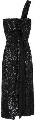 Michael Kors One-shoulder sequin dress