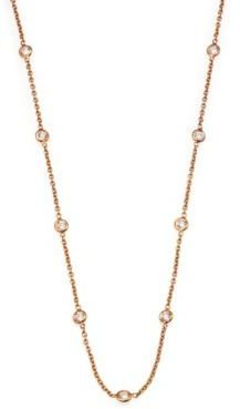 Roberto Coin Diamond & 18K Rose Gold Station Necklace/24""