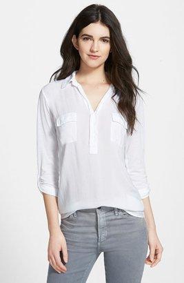 Women's Splendid Lightweight Chest Pocket Shirt $88 thestylecure.com
