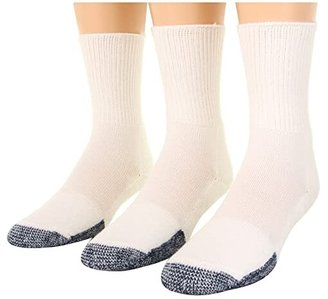 Thorlos Basketball Crew 3-Pair Pack (White) Crew Cut Socks Shoes