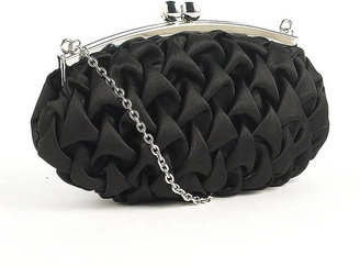 Zoe Adams Scalloped Satin Clutch Handbag