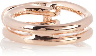 Eddie Borgo Converter rose gold-plated ring