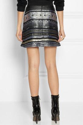 Kenzo Metallic jacquard mini skirt