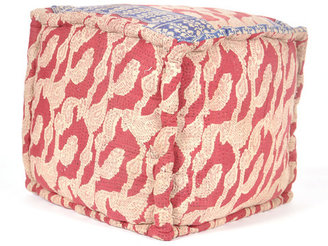 Found Object Kantha Embroidered Pouf