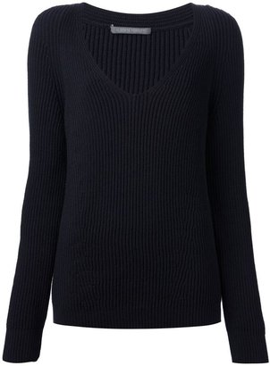 Alberta Ferretti ribbed knit sweater