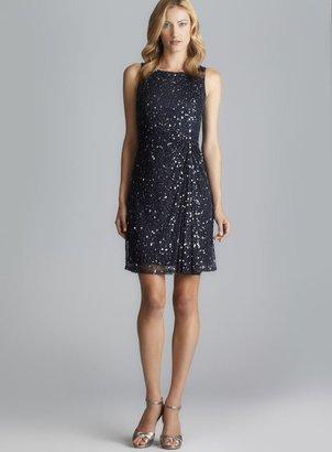Pisarro Nights Sequin & Beaded Mesh Dress