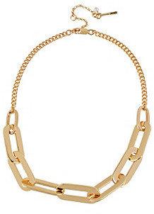 Kenneth Cole Goldtone Oval Link Frontal Necklace