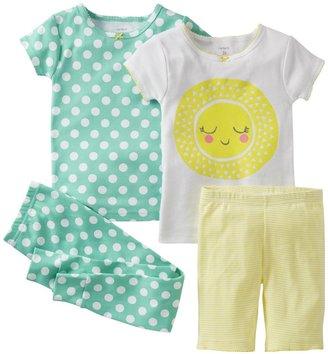 Carter's 4 Piece Cotton Set (Toddler) - Sunshine-2T