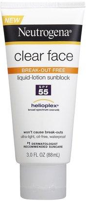 Neutrogena Clear Face Sunblock Lotion SPF 55-3 oz