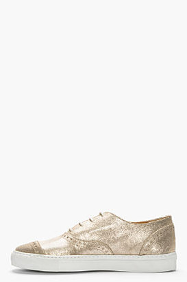 Comme des Garcons Gold sparkling shortwing brogue sneakers